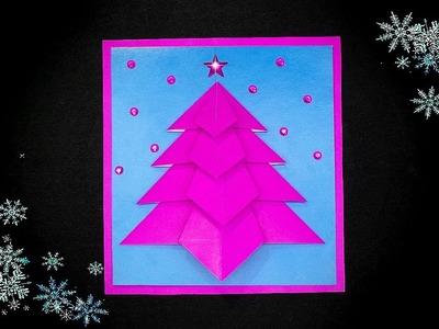 Easy Christmas card - Christmas tree ❄ Christmas gift idea