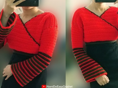 Easy Crochet: Crochet Crop Top (Sweater) #08