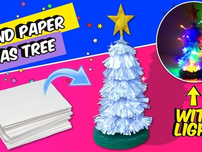 EASY IDEAS DIY FOR CHRISTMAS DECOR!! BOND PAPER CHRISTMAS TREE