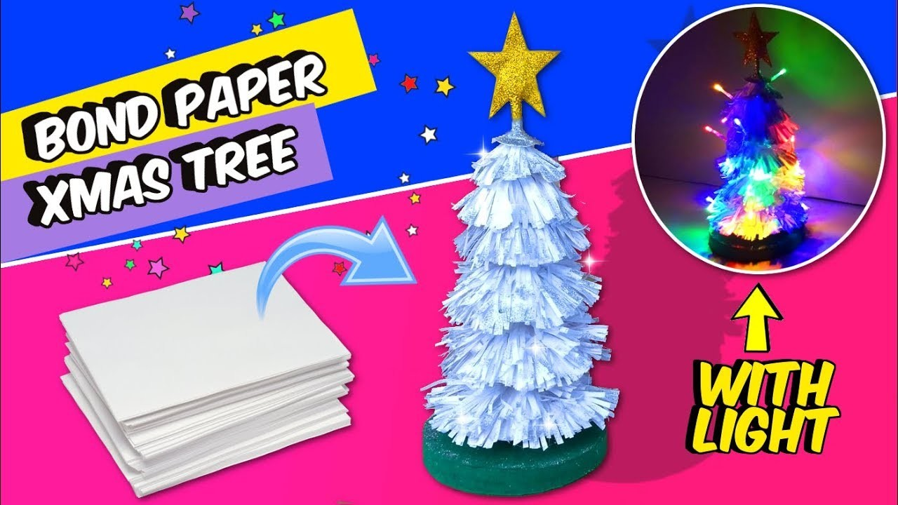 christmas home decor diy easy ideas diy for christmas decor bond paper christmas tree 10575