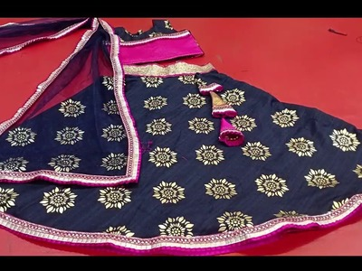 Easy Kids Ghagra Cutting and Stitching Part 2