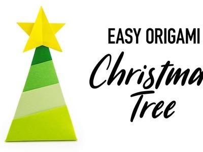 Easy Origami Christmas Tree & Star Tutorial - DIY - Paper Kawaii