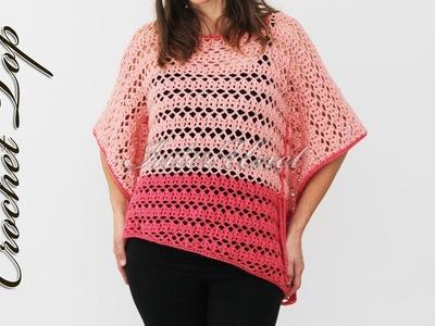 Easy to make asymmetrical lace top crochet pattern