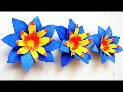 Egg Carton Flower Stick - DIY Craft - Best Out Of Waste 1