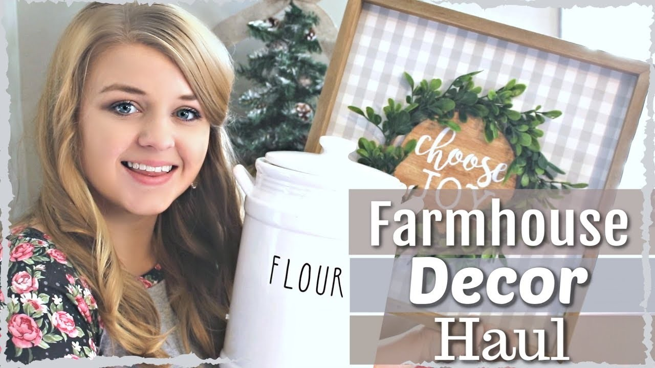 ❤ Farmhouse Home Decor Haul 2018 | MY FAVORITE FARMHOUSE FINDS |  Kirklands + MORE! KraftsbyKatelyn