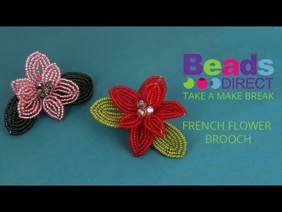 French Flower Brooch | Take a Make Break with Sarah Millsop
