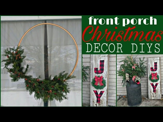 Front Porch Christmas Decor Diys Large Hoop Wreath