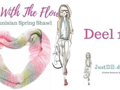 Hoe haak je de Go With The Flow Tunisch gehaakte shawl. Deel 1 stap voor stap tutorial