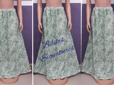 How to cut and sew an A LINE MAXI SKIRT.