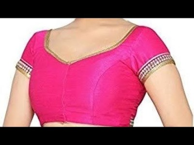 How to cut cap sleeves one Tucks blouse  cutting
