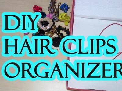 HOW TO DO HAIR CLIPS ORGANIZER FROM WASTE BOX ||HAIR CLIPS ஐ தேடவேண்டாம்