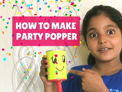 How to make a Party Popper | DIY | Party Supplies | Quick DIY