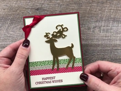 How to make a simple Christmas Card with Washi Tape