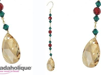 How to Make a Sparkling Drop Christmas Ornament with Swarovski Crystals