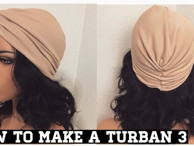 HOW TO MAKE A TURBAN THATS CROSSED AT THE FRONT STYLE 3