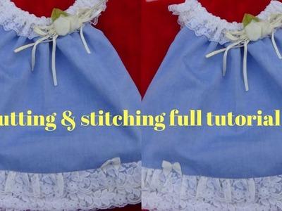 How to make baby tunic top stylish jhabla beautiful girls dress cutting and stitching full tutorial