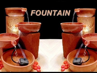 How to make Beautiful Terracotta Fountain for home. DIY