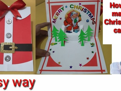 How to make Christmas card || Christmas day card making ideas for school