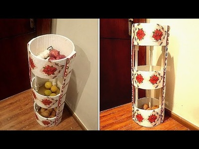How To Make Kitchen Organisation Shelf. Vegetables Basket: