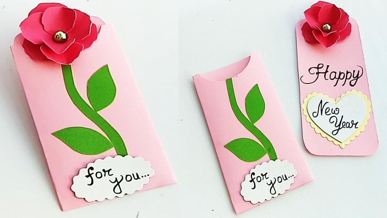 How to make new year card for Boyfriend or Girlfriend. Handmade New Year Card Idea.