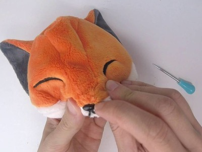 How to make plush: Inserting a safety nose