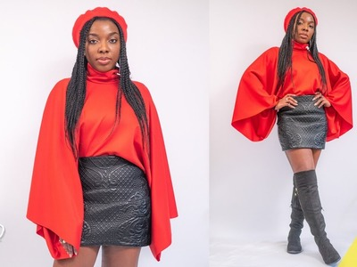 HOW TO SEW AN OVERSIZE BATWIG JUMPER [NO PATTERN USED] | KIM DAVE