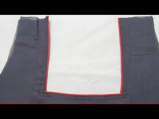 HOW TO STITCH A SQUARE NECK PIPING WITH SIMPLE TECHNIQUE సింపుల్ టెక్నిక్ తో స్క్వేర్ నెక్ పైపింగ్