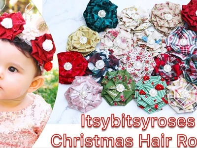 ITSYBITSYROSES CHRISTMAS COLLECTION | HAIR ROSES COLLECTION | FLOWER CROWNS | FLOWER HEADBANDS | HAI