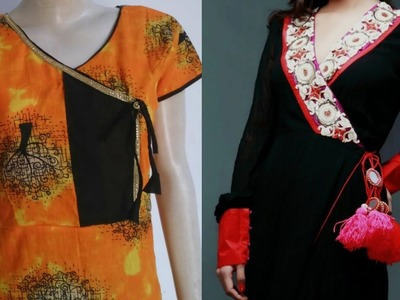 Kurti in angrakha style| how to make kurti in angrakha style step by step tutorial
