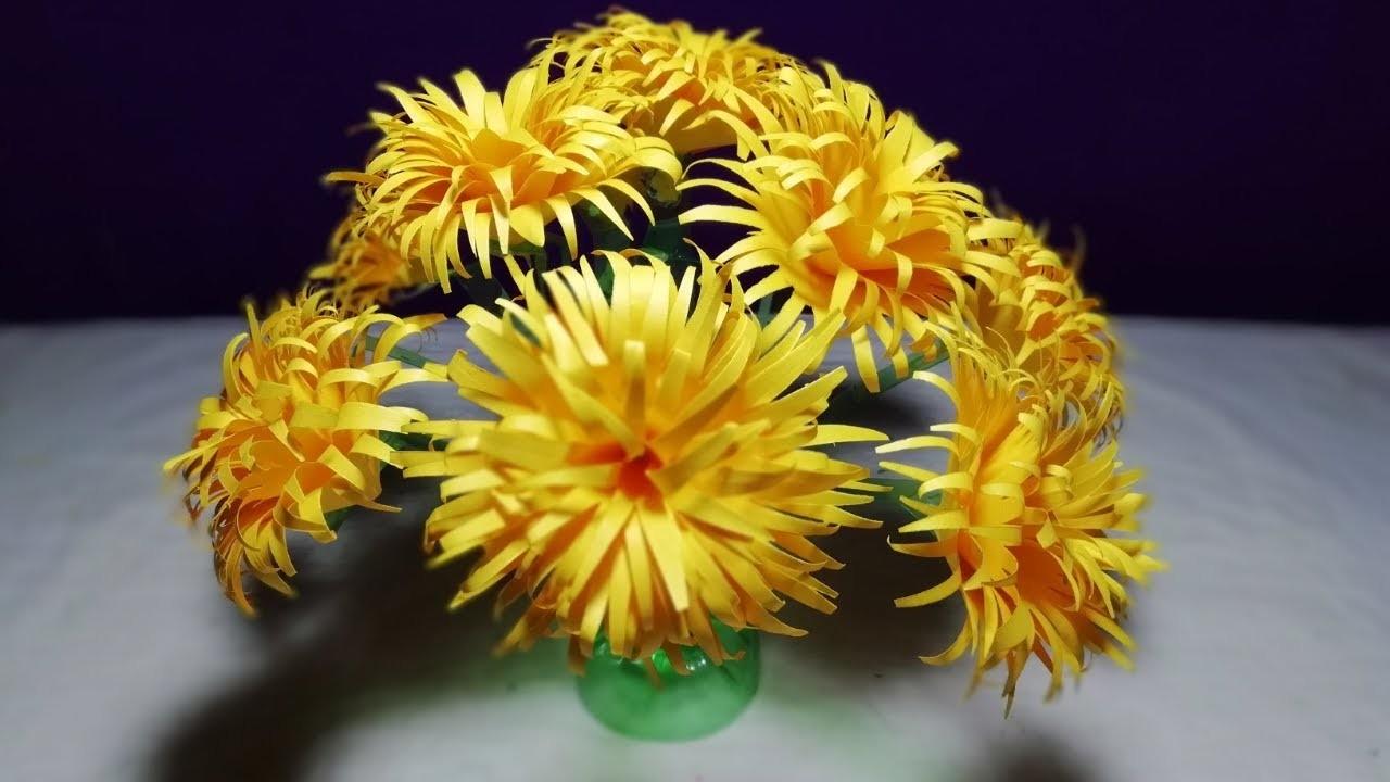 Make Beautiful Sun flower || Easy Empty plastic bottle ...