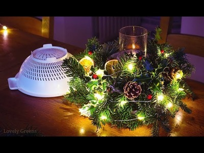 Make this natural Christmas decoration with a COLANDER