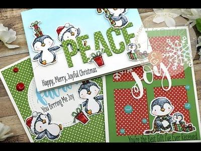 MFT Sweet Holiday Penguins | AmyR 2018 Christmas Card Series #2