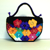 Multi Color Flower Bargello Purse