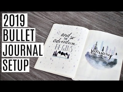 MY 2019 BULLET JOURNAL SETUP! Collections and January Spread
