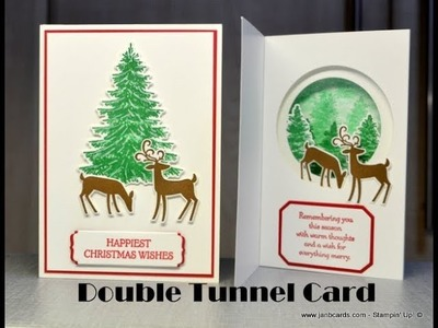 No.440 - Double-Tunnel Christmas Card - JanB UK #7 Top Stampin' Up! Independent Demonstrator