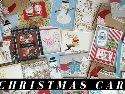 Over 19 Christmas Card Ideas from my Christmas 2018 Card Swap