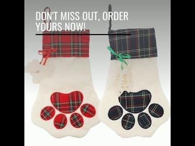Pet Paw Christmas Stocking