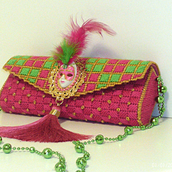 Pink,Green and Gold Clutch