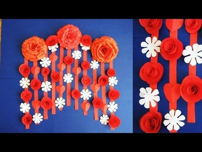 Quick and easy Christmas decorations | Beautiful Wall Hanging Making at Home 9г | Paper Flower.