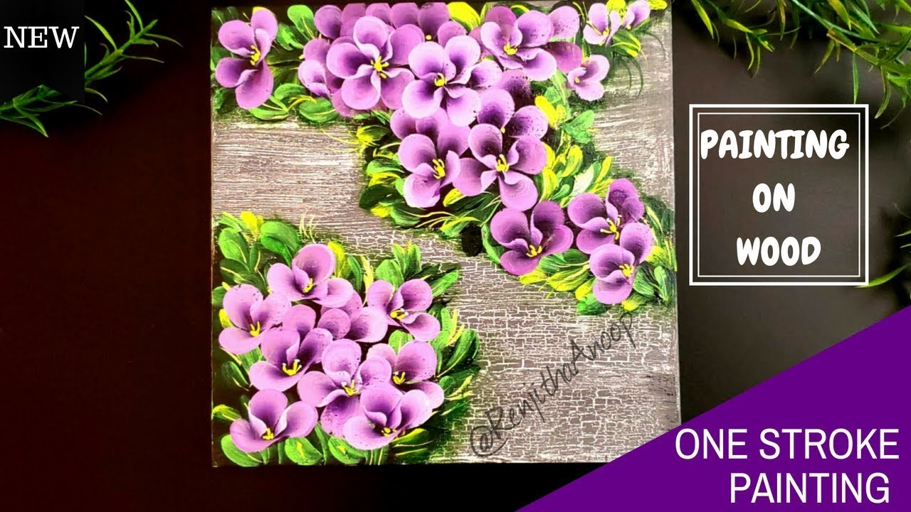 easy canvas paintings and easy painting on wood one stroke flowers on 12671