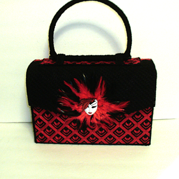 Red and Black Large Bargello Handbag