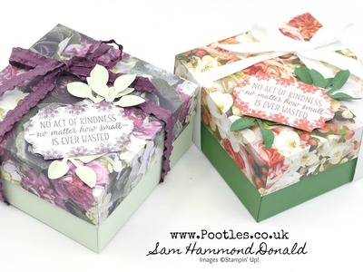 Reinforced Lidded Box Tutorial using Stampin' Up! Petal Promenade