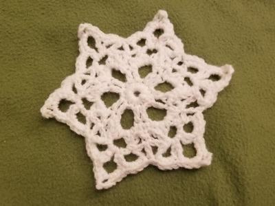 Simple Snowflake #8 - Crochet Tutorial!