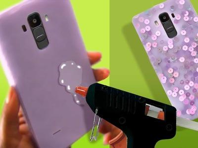 Smooth Hot Glue Phone Case - Choose your colour #DIY #phonecase #hotgluehacks