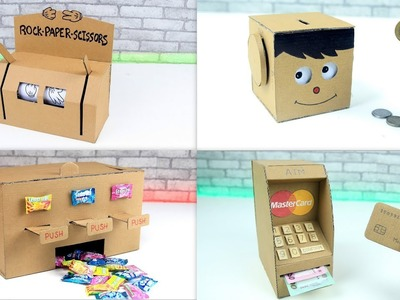 TOP 5 Unbelievable DIY Projects You Can Do at Home from Cardboard