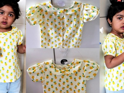 Top for Little Girls- Pattern Making , Cutting and Stitching
