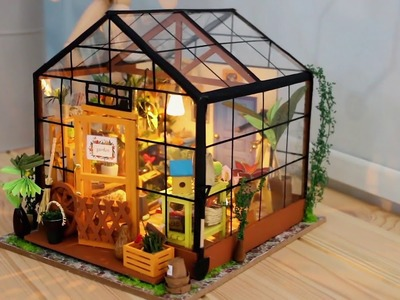 Unboxing Hands Craft DIY 3D Wooden Puzzle DG104 Flower House Miniature House for Crafting