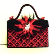 Unique Black and Red Handbag/Purse