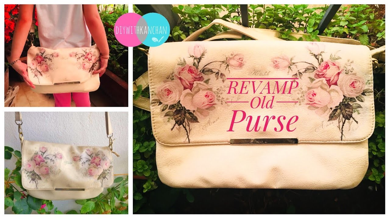 upcycle your old clutch purse bag hack for old purses