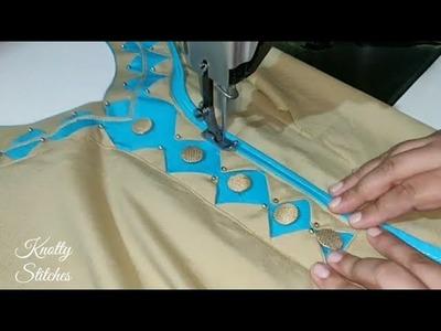 Very Beautiful Kurti Neck Design Cutting and Stitching in Hindi (easy Method)